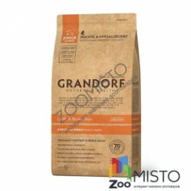 Grandorf Sensitive Care Holistic Lamb & Rice Junior для цуценят з ягням і рисом