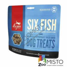 Orijen Six Fish Dog Treats - лакомство для собак c рыбой