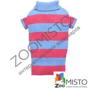 DoggyDolly Dark pink strip sweater свитер для собак